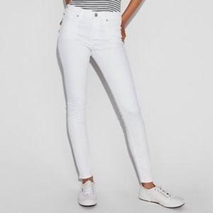 Express White Cropped Legging Mid Rise Jean